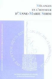 Melanges en l'honneur d'anne marie sohm - Intérieur - Format classique