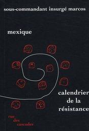 Mexique ; calendrier de la résistance - Intérieur - Format classique