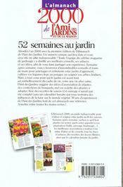 Almanach 2000 De L'Ami Des Jardins - 4ème de couverture - Format classique