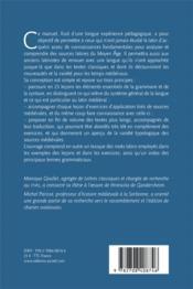 Apprendre le latin médiéval ; manuel pour grands commençants (3e édition) - 4ème de couverture - Format classique