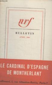 Bulletin Avril 1960 N°148. - Couverture - Format classique