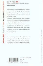 La poesie allemande contemporaine - 4ème de couverture - Format classique