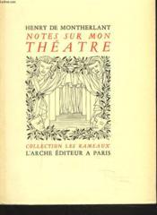 Notessur Mon Theatre - Couverture - Format classique