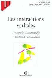 Les interactions verbales - Couverture - Format classique