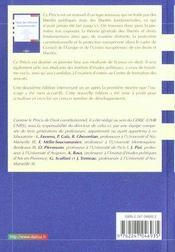 Droit des libertés fondamentales - 4ème de couverture - Format classique