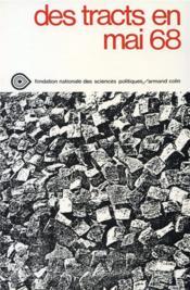 Des tracts en mai 68 - Couverture - Format classique