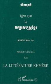 Apercu General Sur La Litterature Khmere - Couverture - Format classique