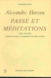 Passé et méditations t.1 - Couverture - Format classique