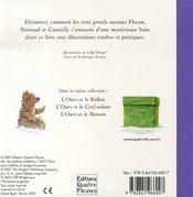 L'ours et la boîte - 4ème de couverture - Format classique