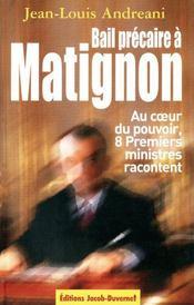 Bail Precaire A Matignon - Couverture - Format classique