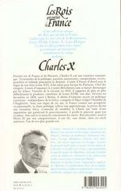 Charles X Br - 4ème de couverture - Format classique