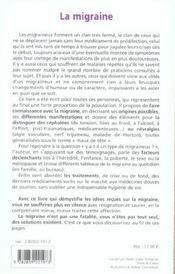 Migraine Les Solutions Existent - 4ème de couverture - Format classique