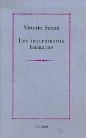 Les instruments humains poemes - Couverture - Format classique