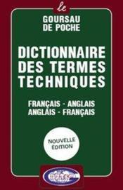 Dictionnaire Des Termes Techniques Francais/Anglais - Anglais/Francais - Couverture - Format classique