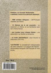 Langue des signes , dictionnaire bilingue LSF / français - 4ème de couverture - Format classique