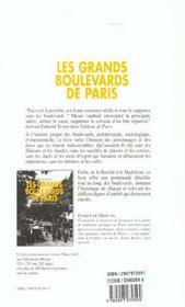 Les Grands Boulevards De Paris - 4ème de couverture - Format classique