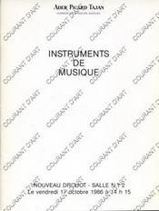 INSTRUMENTS DE MUSIQUE. [VIOLON. GUITARE. MANDOLINE. ETUI VIOLON. VIOLONCELLE..]. 17/10/1986. (Poids de 47 grammes) - Couverture - Format classique