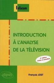 Introduction à l'analyse de la télévision - Intérieur - Format classique