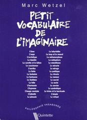 Petit vocabulaire de l'imaginaire - Intérieur - Format classique