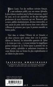 Histoire du roi Gonzalve et des douze princesses - 4ème de couverture - Format classique