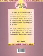 Les Plus Belles Legendes De La Musique - 4ème de couverture - Format classique