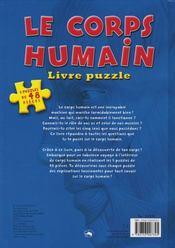 Livre puzzle/le corps humain - 4ème de couverture - Format classique