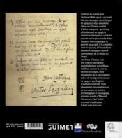 Notes d'etapes 1914 et 1921 a 1923 - 4ème de couverture - Format classique