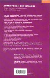 Comment ne pas se créer de maladies (édition 2005) - 4ème de couverture - Format classique