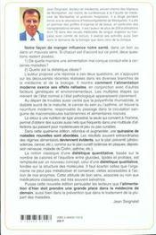 L'alimentation ou la troisieme medecine ,quatrieme edition - 4ème de couverture - Format classique