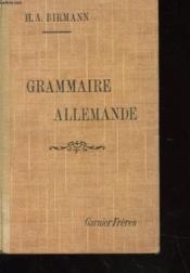 Grammaire Allemande Pratique Et Raisonnee A L'Usage Des Commercants - Couverture - Format classique