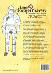 Livre Les Cinq Chapitres - Encyclopedie De La Defense Corporelle Au Moyen-Age, Du Veme Au Xveme Siec - 4ème de couverture - Format classique