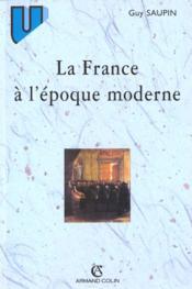 La france a l'epoque moderne - Couverture - Format classique