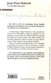 Une famille française - 4ème de couverture - Format classique