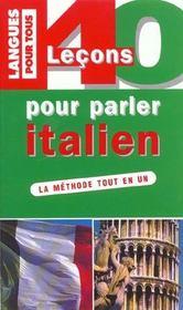 40 Lecons Pour Parler Italien - Intérieur - Format classique
