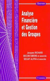 Analyse Financiere Et Gestion Des Groupes - Intérieur - Format classique