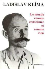 Monde comme conscience et comme rien (le ) - Couverture - Format classique