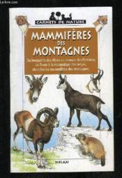 Les mammiferes des montagnes - Couverture - Format classique