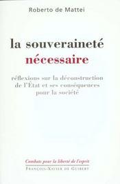 La souverainete necessaire - Intérieur - Format classique