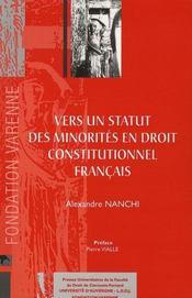 Vers un statut des minorités en droit contitutionnel français - Intérieur - Format classique