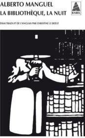 La bibliothèque, la nuit - Couverture - Format classique