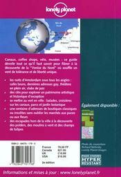 Amsterdam ; 2e Edition - 4ème de couverture - Format classique