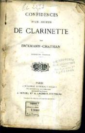 Confidences D'Un Joueur De Clarinette / 2e Edition. - Couverture - Format classique