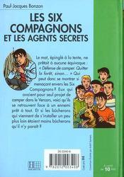 Les six compagnons - t12 - les six compagnons 12 - les six compagnons et les agents secrets - 4ème de couverture - Format classique