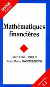 Mathématiques financières - Couverture - Format classique