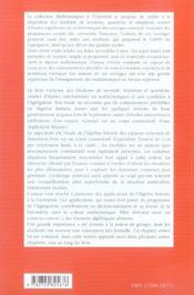 Algebre Lineaire - 4ème de couverture - Format classique