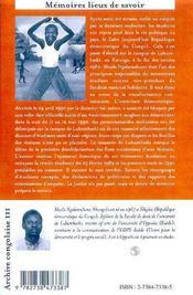 Le Campus Martyr ; Lubumbashi 11 Et 12 Mai 1990 - 4ème de couverture - Format classique