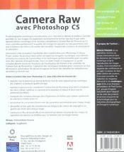 Camera raw avec photoshop cs - 4ème de couverture - Format classique
