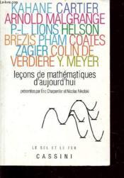 Lecons de mathematiques d'aujourd'hui - Couverture - Format classique