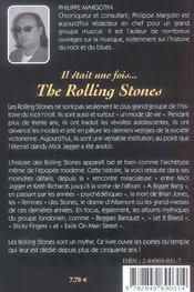 Il était une fois The Rolling stones - 4ème de couverture - Format classique