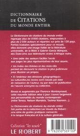Citations du monde poche - 4ème de couverture - Format classique